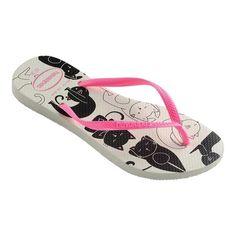 16b73330d Havaianas Slim Pets Flip Flop. Pink SandalsCat ...