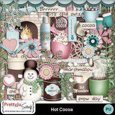 Hot Cocoa Foam Cups, Digital Scrapbook Paper, Paint Shop, Photoshop Elements, Lowercase A, Marshmallow, Hot Chocolate, Design Elements, Cocoa