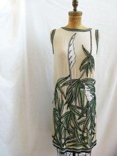 1920s bamboo dress #1920s #Twenties #20s #fashion #dress #bamboo by goga.roca