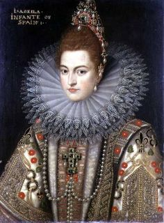 Isabella Clara Eugenia (1566-1633) Infanta of Spain, Frans Pourbus the younger. Flemish (1569 - 1622)