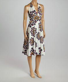 Look what I found on #zulily! Gray & White Burst Halter Dress by Aryeh, $34 !!  #zulilyfinds