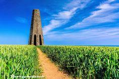 The striking Daymark tower near Kingswear Devon