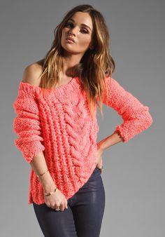 Off the shoulder sweater. Cute, cute, cute.....
