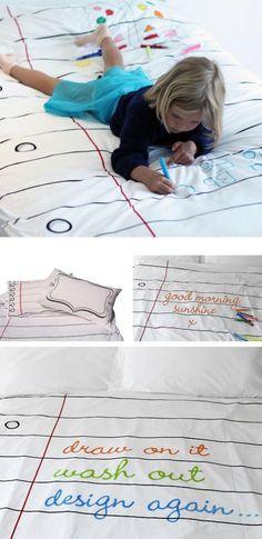 Un drap sur lequel on peut enfin dessiner !
