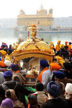 Jan 5 - Guru Gobind Singh Jayanti (Sikh)  This is the birthday of the 10th and last Sikh guru, also the founder of Sikhism.     Photo: Indian Sikh devotees carry the Palki Sahib, with the Guru Granth Sahib, the Holy scriptures of Sikhism, during a procession from the Sri Akal Takhat at The Golden Temple in Amritsar January 10, 2011 as part of the ongoing 345th Prakash Utsav birthday celebrations for Sikh Guru Gobind Singh. AFP |  Sikhpoint.com