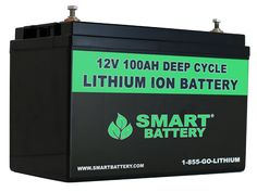 Smart Battery® | 12V Lithium Ion Batteries for RV Marine and Automotive