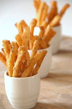 Tofu Frites & Mojos in Asian Ketchup. What's Your Style? Use the dipping sauce in Cook Right For Your Type or tofu mayo. Tofu Recipes, Vegetarian Recipes, Cooking Recipes, Healthy Recipes, Cooking Tips, Easy Recipes, Tofu Dishes, Vegan Dishes, Think Food