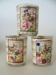Resultado de imagem para vintage decoupage candle