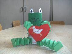Knutselen 3d: Kikker is verliefd