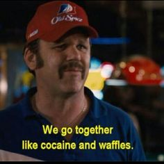 I think we go together better than. Tv Show Quotes, Movie Quotes, Funny Quotes, Life Quotes, Movie Quote Tattoos, Stupid Funny Memes, Hilarious, Funny Shit, Funny Stuff