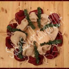 Burlap wreath  www.facebook.com/SadieSunflowerCrafts