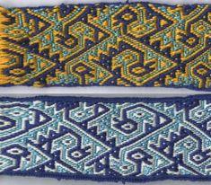Tesselated bird tablet weaving