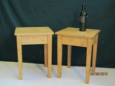 Pine side tables - R Froud Pine Furniture