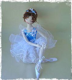 Купить Интерьерные куклы - синий, интерьерная кукла, текстильная кукла…