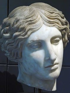 Head of an Amazon Roman copy of Greek original produced in 440-430 BCE for artistic competition in Ephesus