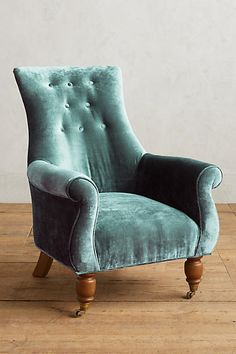 Slub Velvet Astrid Chair - anthropologie.com