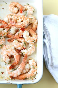 roasted shrimp with rosemary, garlic and lemon