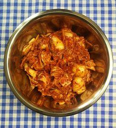 Hot Dog, Kimchi, Shrimp, Ethnic Recipes, Food, Salads, Essen, Meals, Yemek