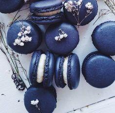 Blueberry macarons! Yum!