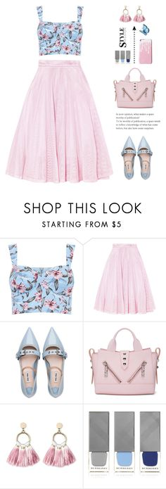 """""""FL (30/05/2017)"""" by aneetaalex ❤ liked on Polyvore featuring Maje, Miu Miu, Kenzo, SUGARFIX by BaubleBar and Burberry"""