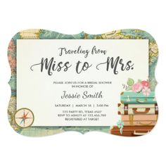 #invitations #wedding #bridalshower - #Travel Bridal shower invitation Miss to Mrs