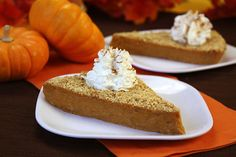 Upside-Down Pumpkin Pie Recipe | Hungry Girl