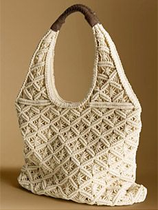 Macrame Tote  We love the beachy vibe of this Macrame Tote ($98) from Banana Republic. The jumbo macrame exterior is topped off with a durable brown contrast handle. The bohemian-inspired tote is roomy and perfect for daily use all summer long.