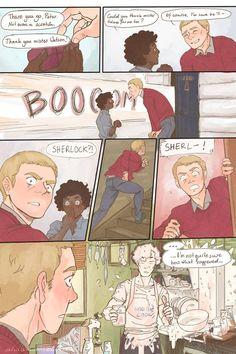 Sherlock cooking...