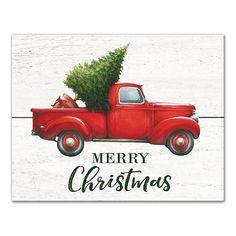 Christmas Red Truck, Christmas Tree Farm, Christmas Signs, Country Christmas, Christmas Pictures, Vintage Christmas, Merry Christmas, Christmas Crafts, Christmas Fonts