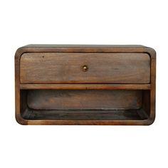 IN705-1 Wall Mounted Bedside Table, Bedside Tables, Bedside Storage, Wood Nightstand, Nightstands, Dressers, Microsoft, Boudoir, Art Nouveau