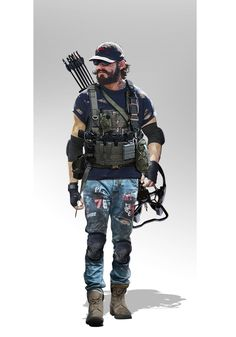 character concept inspired from Doremon and Division Apocalypse World, Apocalypse Art, Character Concept, Character Art, Concept Art, Apocalypse Character, D20 Modern, Zombie Life, Special Forces Gear