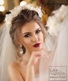 """WEBSTA @ aydan_kharayeva - Make up by mee..hair style by @stilist_turkan @ilahahajiyeva @ilahahajiyeva_fan @ilahahajiyeva_makeup_studio @vegas_nay @hudabeauty @makeup_clips @instabeauty @beauty @makeupblogger @samerkhouzami Gelin sac makiyajin karona kirayesin 150azn etdik telesin gozel gelinlerimiz [ """"WEBSTA @ aydan_kharayeva - Make up by mee.hair style by Gelin sac makiyajin karona kirayesin etdik telesin gozel gelinlerimiz"""" ] # # #Makeup #Studio, # #Weddingideas, # #Hair..."""
