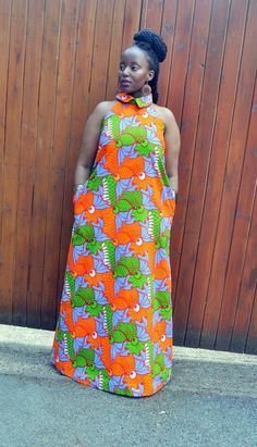 African Printed Dress Latest African Dress Trend Ideas for Exciting Look - As the options of African dress styles on contemporary design, there must be tribal print for around the globes. African Maxi Dresses, African Attire, African Wear, African Women, African Traditional Dresses, Collor, African Print Fashion, Ankara Fashion, African Design