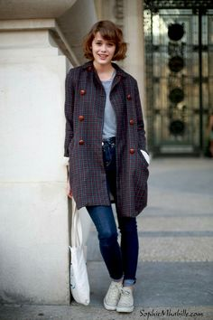 Mathilde Warnier Mathilde Warnier, Daily Street Style, Jacket Style, Short Hair Styles, Normcore, Actresses, Female, French Actress, Jackets
