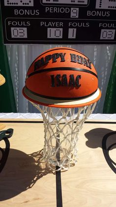Boston Celtics basketball birthday party cake! See more party planning ideas at CatchMyParty.com!