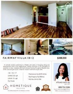さとうあつこのハワイ不動産: HOMETIQUE Open House 2/15 2-5pm Fairway Villa 1812...