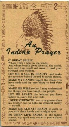 Cheroker prayer