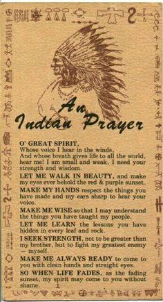 Cheroker prayer