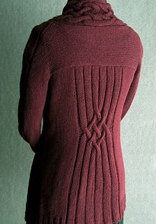 Mia Francesca by Carol Sunday ~ top down knit in a Worsted 10ply ~ back view