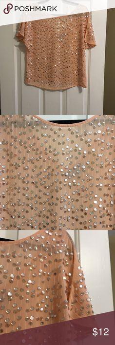 Jennifer Lopez - Peach Sequin Top - Size XS Jennifer Lopez - Peach Sequin Top - Size XS. New without tags. Jennifer Lopez Tops Blouses
