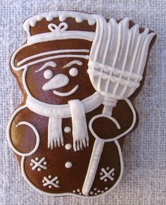 Hombre de nieve Christmas Gingerbread, Gingerbread Cookies, Christmas Cookies, Cake Cookies, Sugar Cookies, Biscuits, Royal Icing, Homemade Gifts, Cookie Decorating