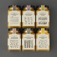 Product: Choice honey from different regions of RussiaClient: A major Russian producer and distributor of honeyDescription:Subtle variations in taste are expressed in the pencil illustrations.The strokes, rhythm and ratio of black-to-white of the dr…