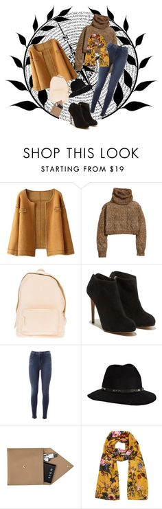"""""""Untitled #5"""" by kourt-ten-ee ❤ liked on Polyvore featuring H&M, PB 0110, Salvatore Ferragamo, J Brand, Anine Bing, STOW and Oasis"""