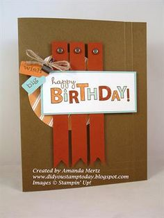 Idea to use: Banner for fence for masculine card - use with Victory paper (Spring/Summer Idea Book)