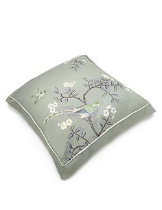 2 Ophelia Embroidered Square Pillowcases | M&S