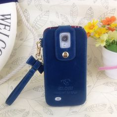 Klogi Case Cover Detachable Hand Strap for Samsung Galaxy S4 - Dark Blue