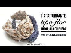 Tiara turbante flor - DIY tutorial completo - YouTube Headband Tutorial, Headband Pattern, Diy Tutorial, Flores Diy, Diy Tiara, Huda Beauty Makeup, Pearl Hair Pins, Turban Headbands, Felt Flowers
