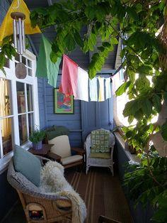 cozy balcony space