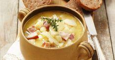 Zemiakovo-cibuľová polievka - dôkladná príprava krok za krokom. Recept patrí medzi tie najobľúbenejšie. Celý postup nájdete na online kuchárke RECEPTY.sk. Eat Smarter, Cheeseburger Chowder, Soup, Ethnic Recipes, Recipies, Soups