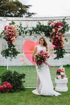 Modern Neon Wedding Ideas With One Fine Day - Polka Dot Bride Budget Wedding Dress, Low Budget Wedding, Summer Wedding Decorations, Summer Weddings, Dahlia Bouquet, Melbourne, Balloon Display, Wedding Planning Tips, Wedding Ideas